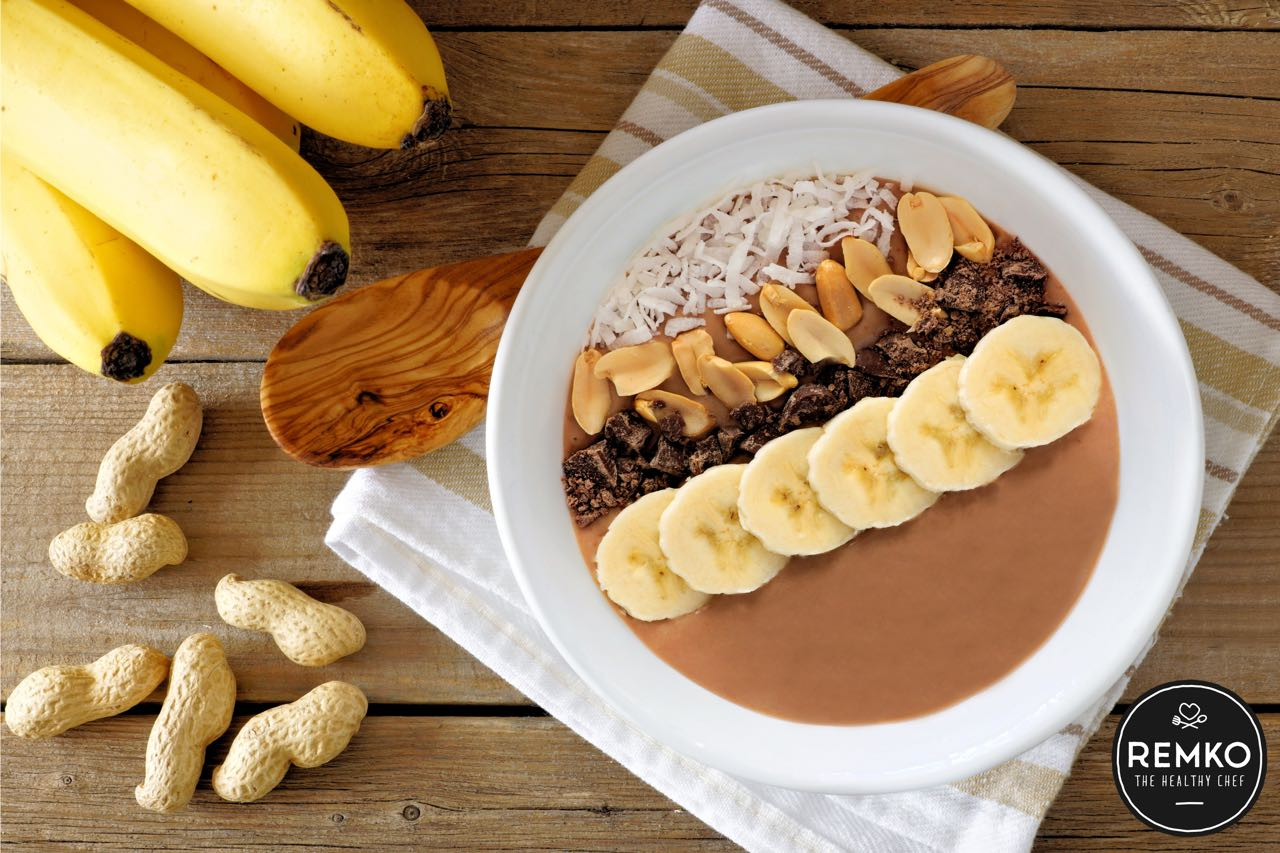 Pindakaas-smoothiebowl PINDAKAAS SMOOTHIE BOWL