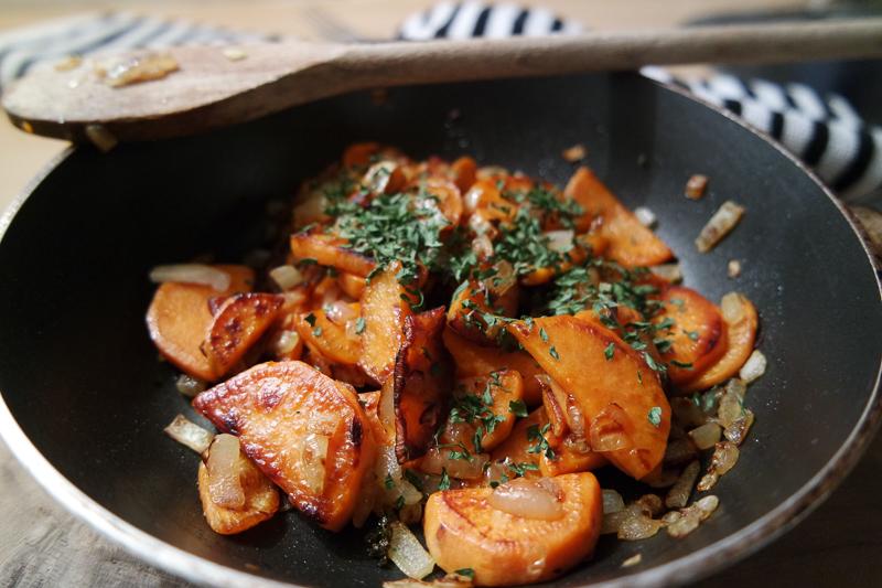 recept zoete aardappelen gebakken